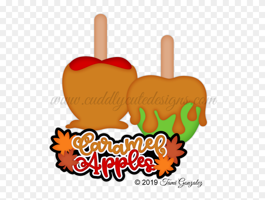 Caramel Apples Clipart 5451780 Pinclipart