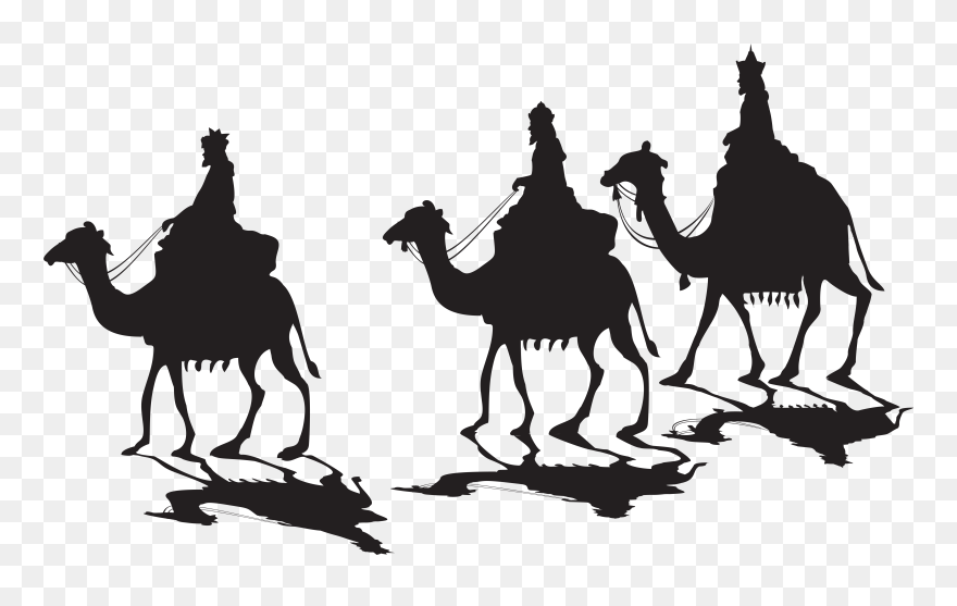 Bactrian Camel Computer Icons Clip Art - Wise Men And Camel Clipart, HD Png  Download - vhv