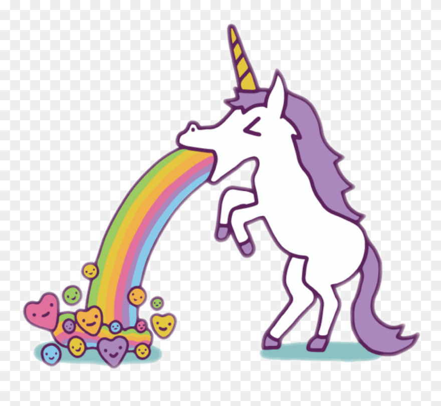 Transparent Vomit Clip Art Unicorn Puking Rainbow Png Download 5468283 Pinclipart