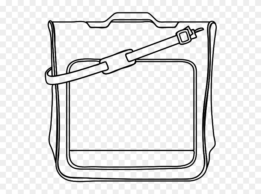 Shoulder Satchel Illustration Gambar Tas Kartun Hitam Putih Clipart 5475819 Pinclipart