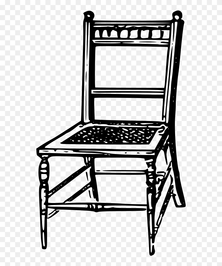 Student Chair Png Clip Art - Kursi Clipart Black And White ...