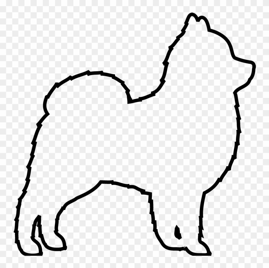 Outline Of A Dog Pomeranian Face Outline Vector Clipart 550093
