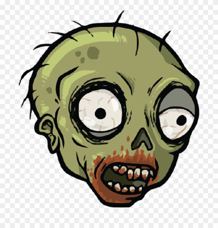 Quirky App Of The Day Slam Explode - Zombie Face Cartoon Png Clipart