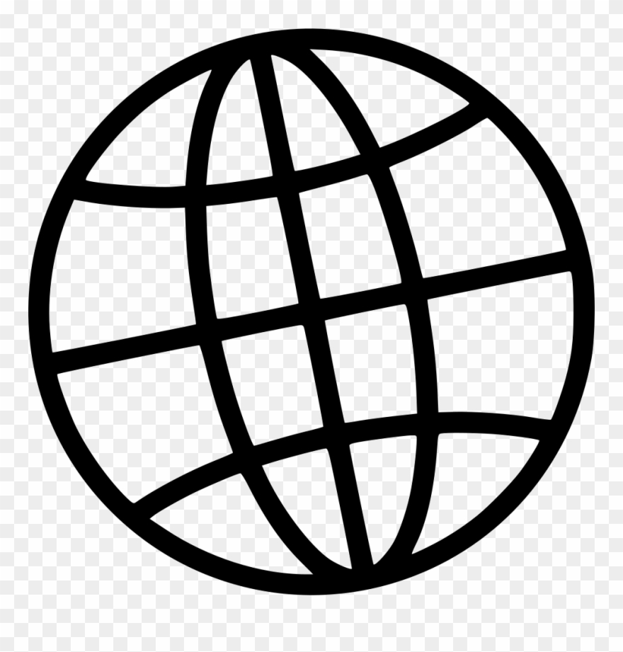 Globe Internet Comments - Png Url Icon White Clipart