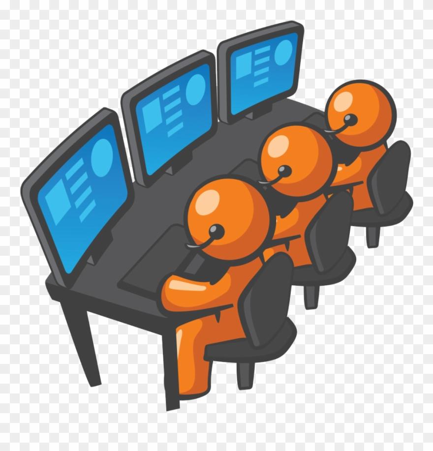 Computer Tech Services Call Center Seats Cartoons Clipart
