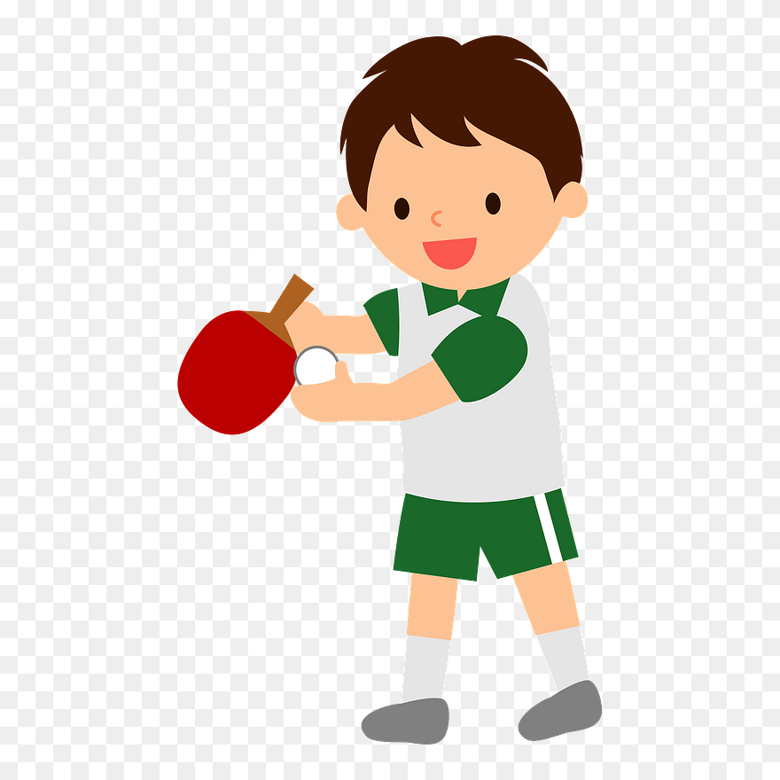 Table Tennis Sports Boy Clipart バドミントン イラスト フリー Png Download Pinclipart