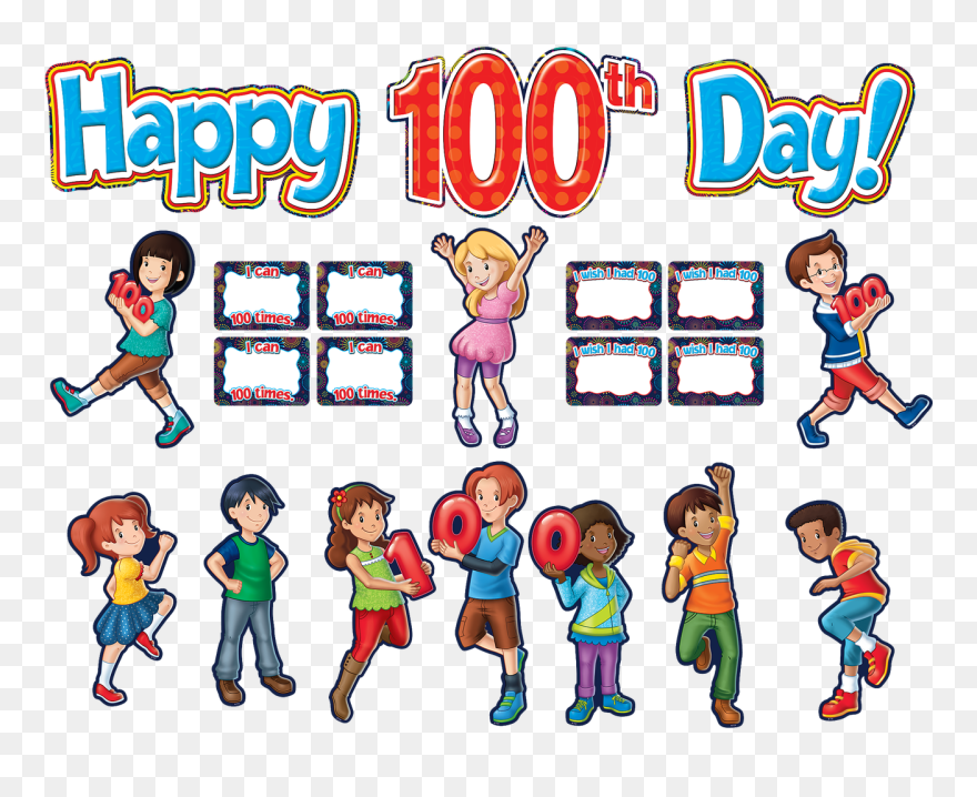 100th Day of School Clipart | Etsy