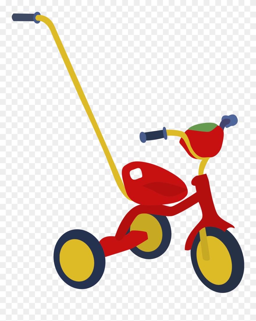Red Big Image Png Sepeda Roda Tiga Kartun Clipart 5547659 Pinclipart