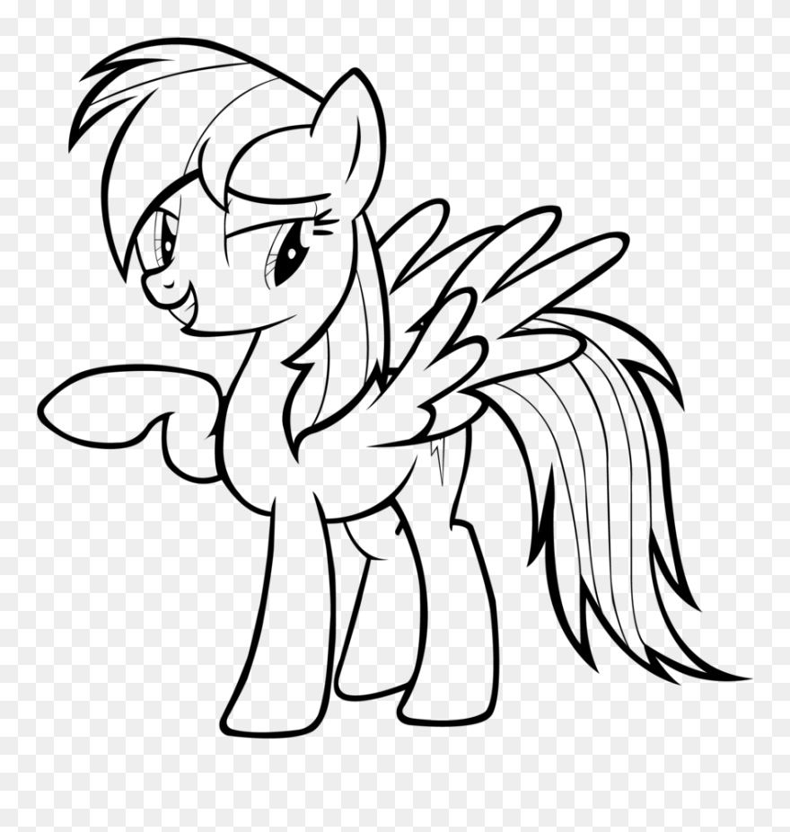 13319 Rainbow Free Clipart Rainbow Dash My Little Pony Coloring Page Png Download 5548852 Pinclipart