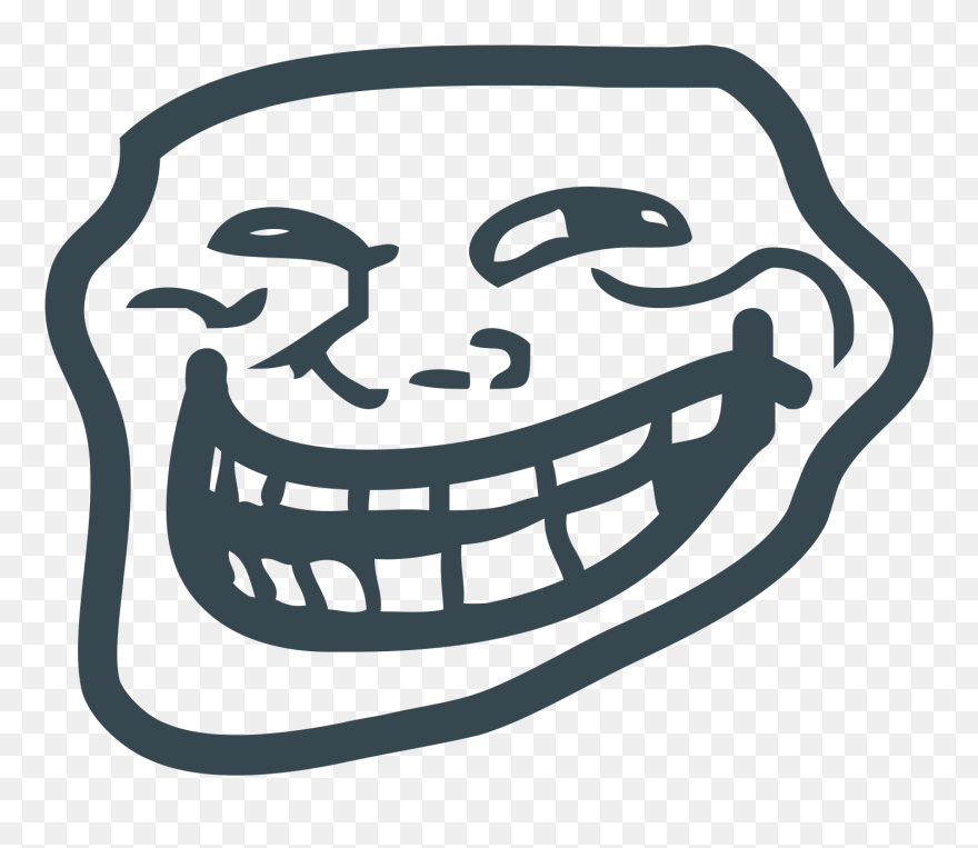 Trollface Clipart Png Troll Face Transparent Png 5549526 Pinclipart