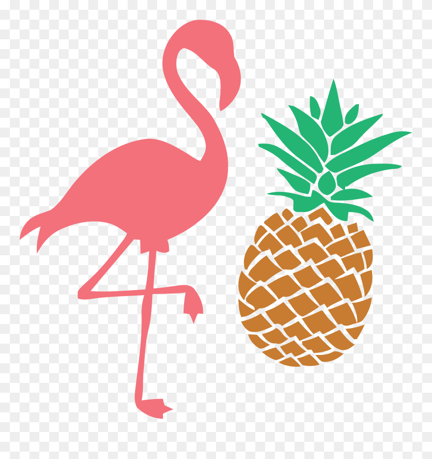 Flamingo Svg Pineapple Studio Clip Art - Flamingo And ...