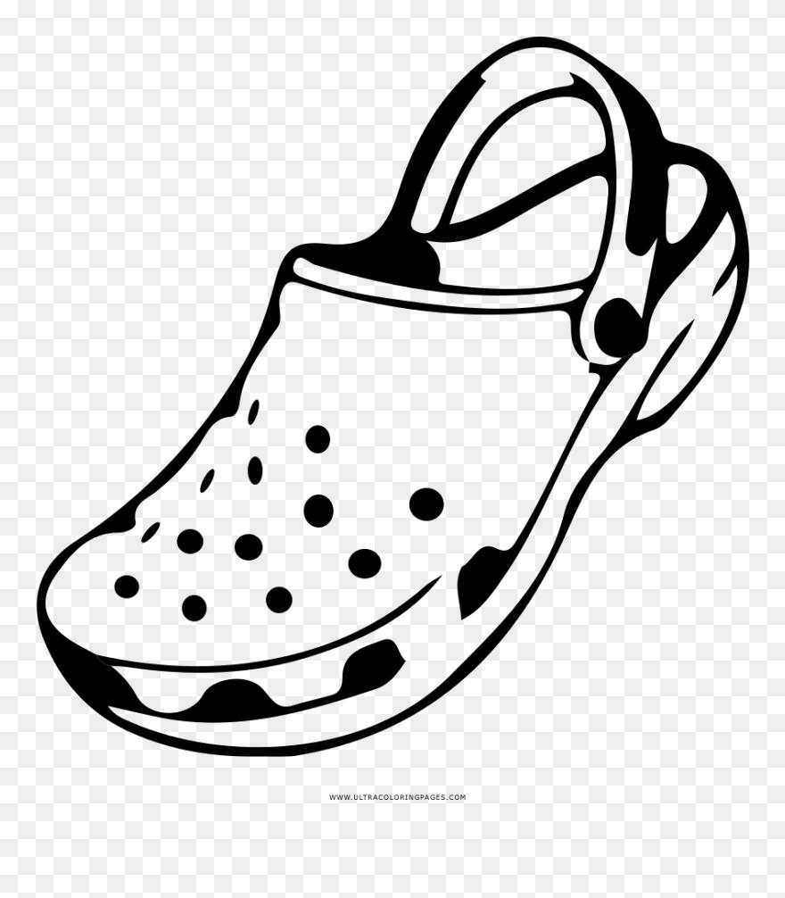Croc Coloring Page Crocs Coloring Pages Clipart 5563997 Pinclipart