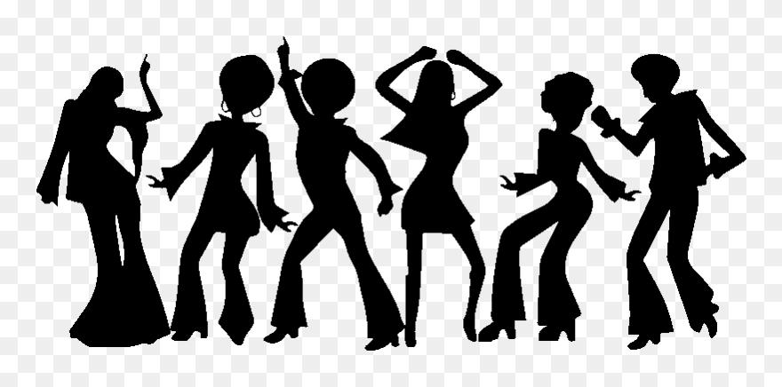Sticker Silhouettes Danseurs Disco Dancing Silhouette Disco Png Clipart 5567205 Pinclipart