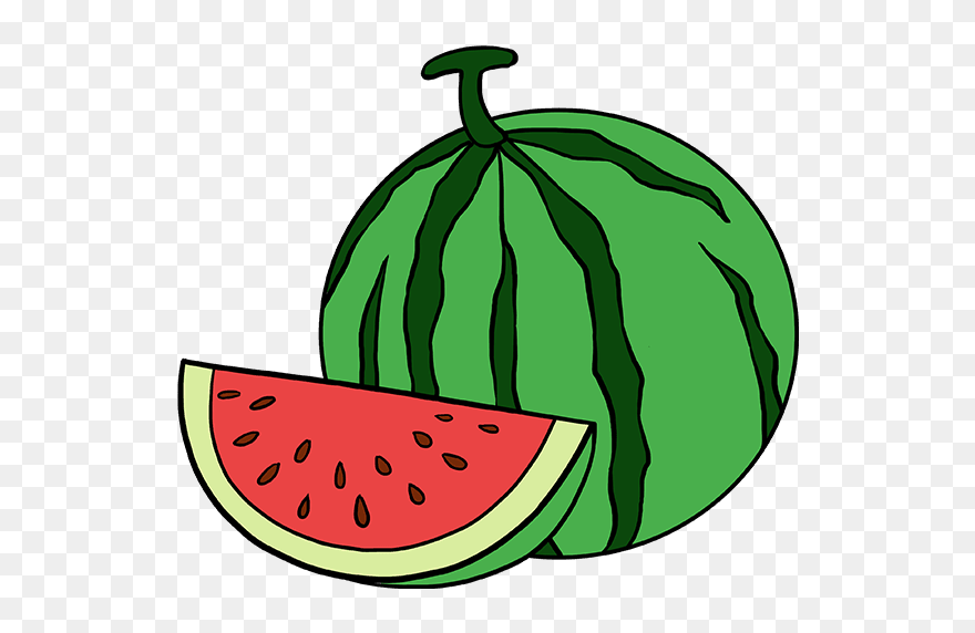 How To Draw Watermelon Slice Easy Watermelon Drawing Clipart 5568938 Pinclipart