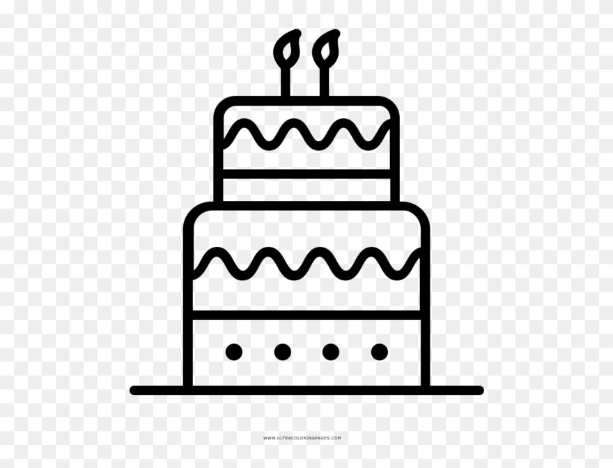 Torta Compleanno Stilizzata.Torta Di Compleanno Disegno Clipart 5569761 Pinclipart