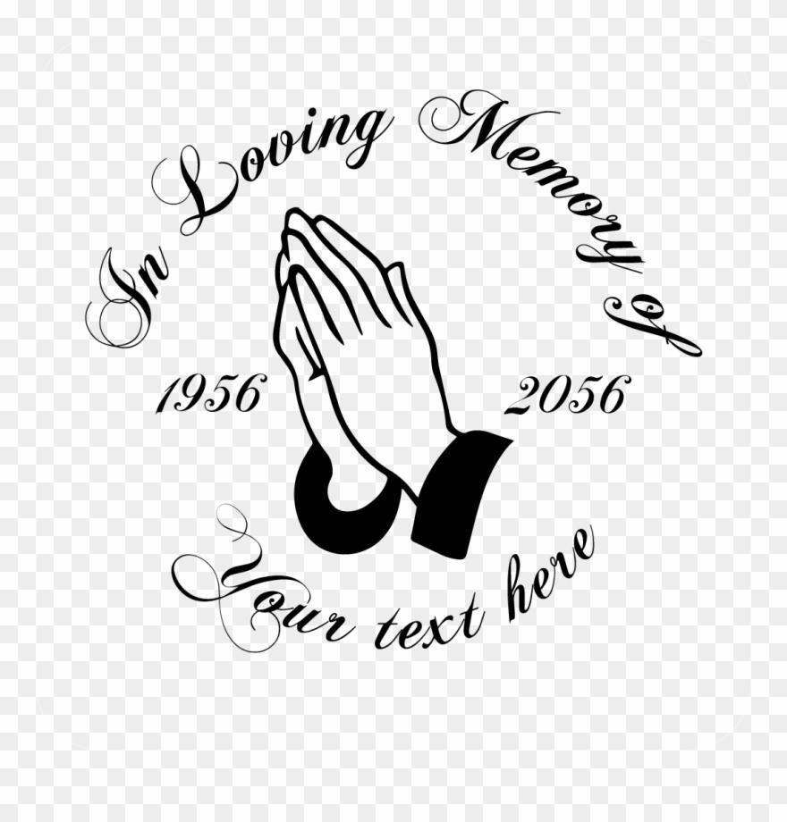 In Loving Memory Praying Hands Decal - Micchami Dukkadam In Hindi Clipart