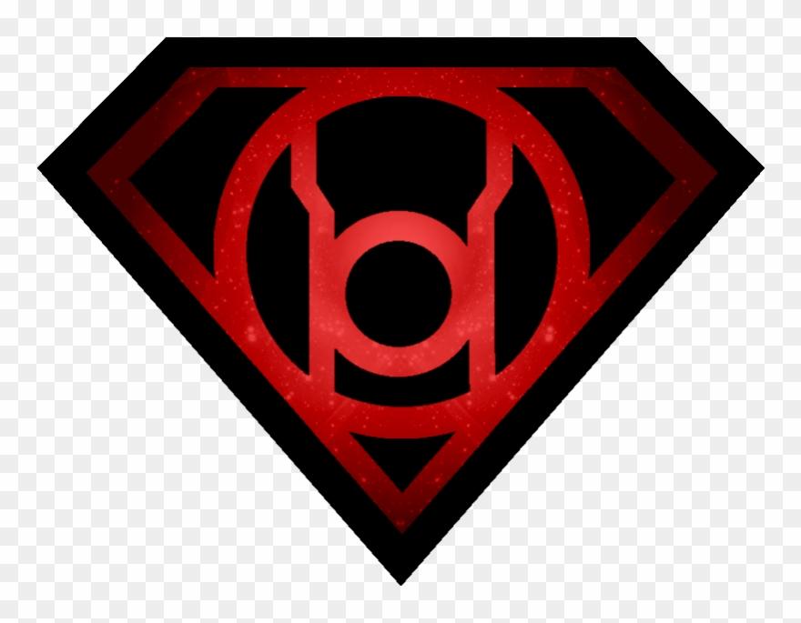 More Like Superman Sinestro Lantern Shield By Kalel7 - Red ...  Black Lantern Superman Symbol