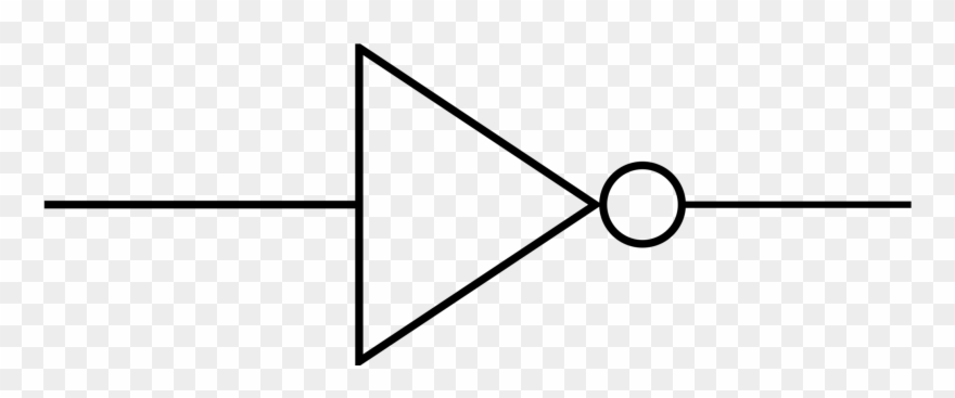 electronic symbol inverter wiring diagram electronics  not