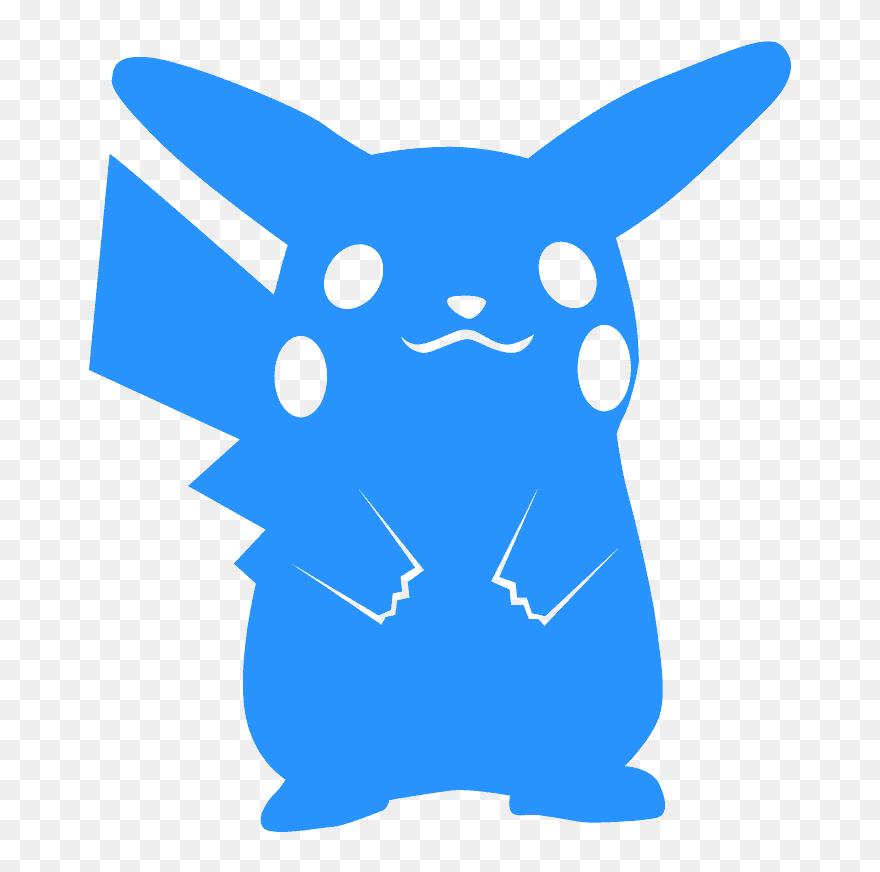 Pikachu Silhouette Clipart (#5602017) - PinClipart