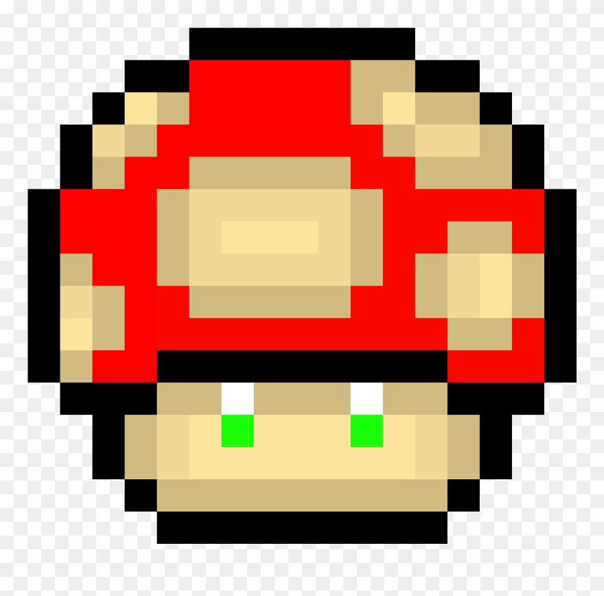 Transparent Mario Mushroom Png Pixel Art Super Mario Clipart
