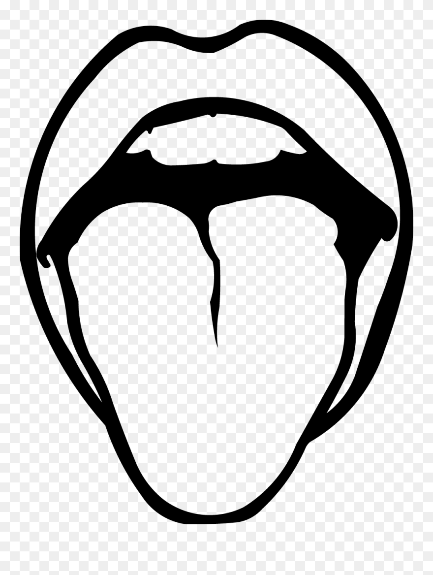 Download Clip Tongue White - Lips Clipart Black And White ...
