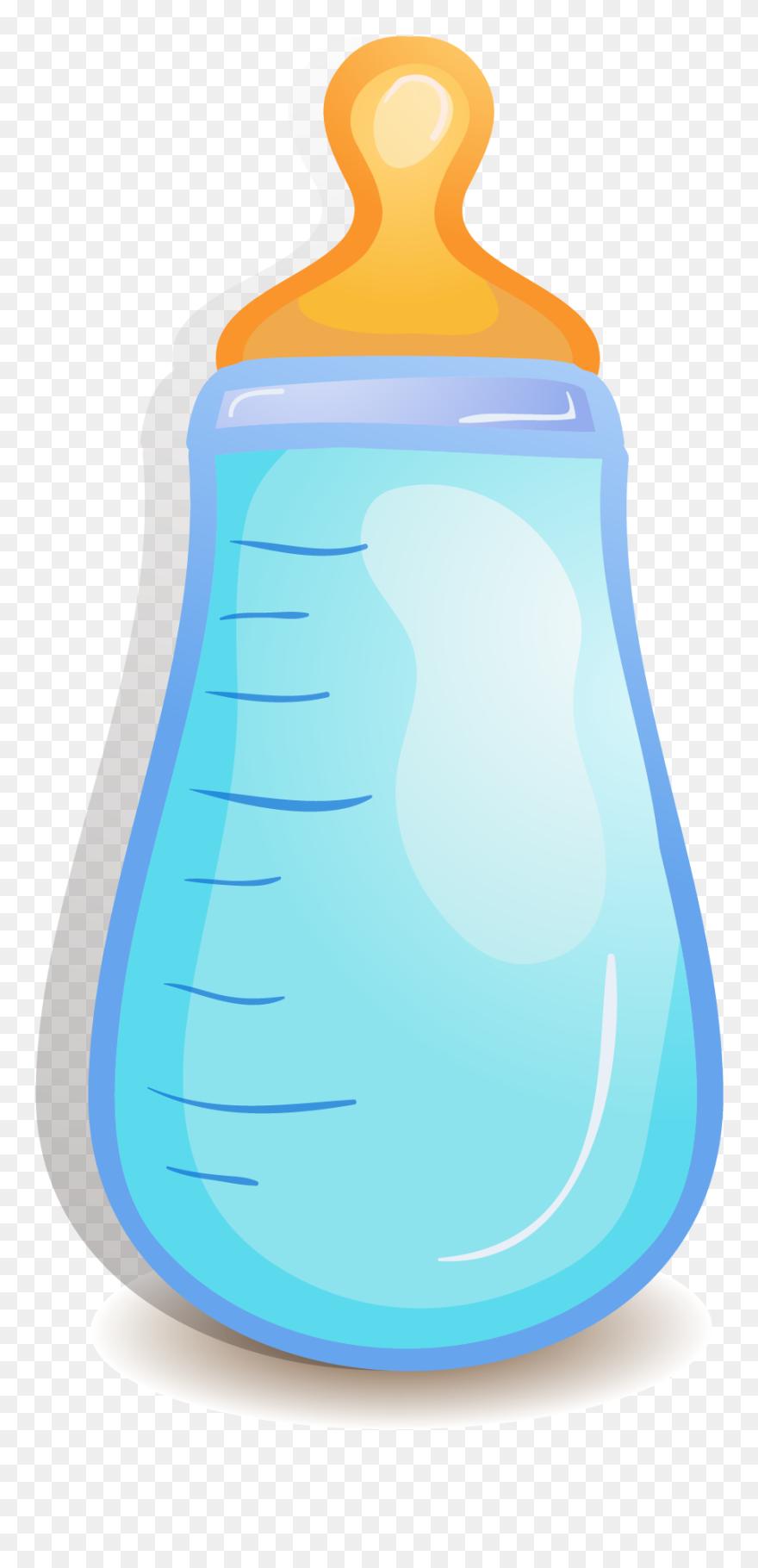 Baby Bottle Infant Blue Baby Cartoon Bottles Clipart 5642572 Pinclipart