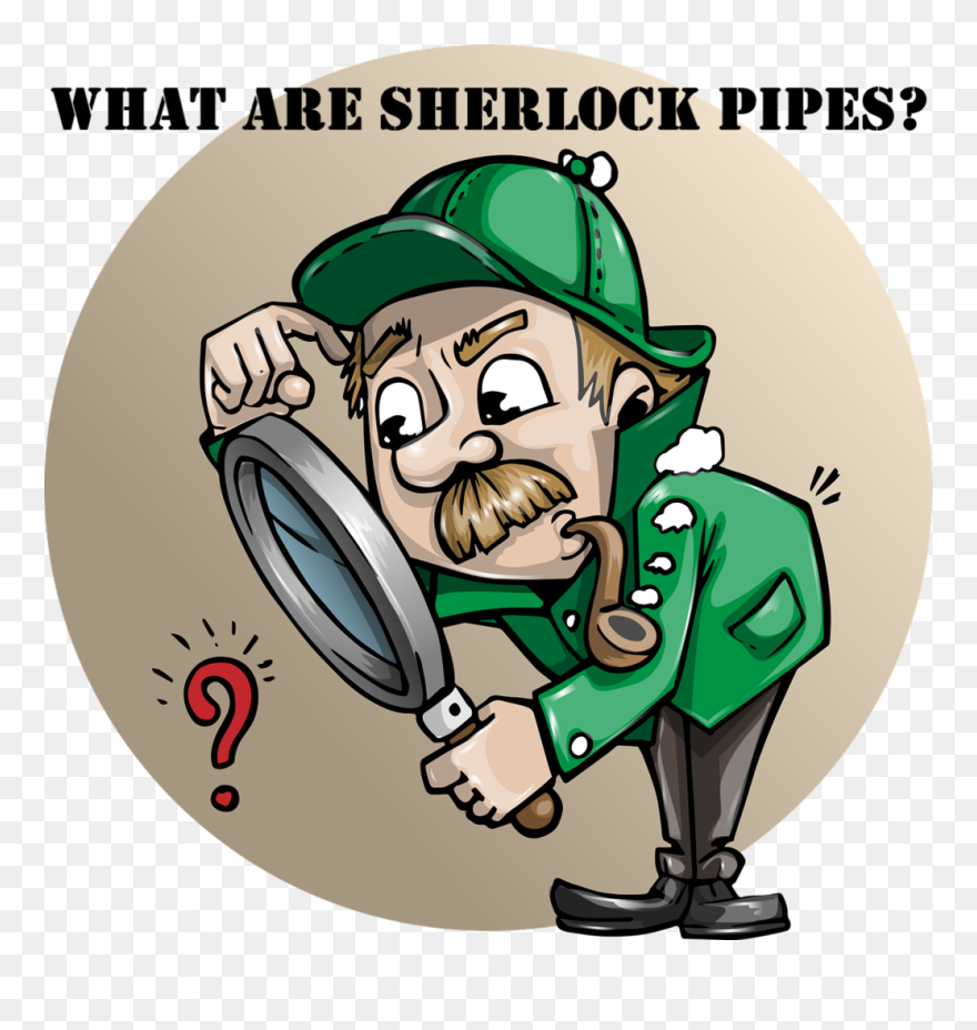 What Are Sherlock Pipes - Detective Funny Clipart ...