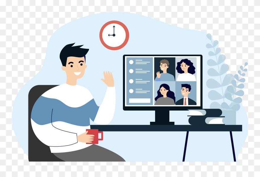 Virtual Meeting Clipart 5664005 Pinclipart
