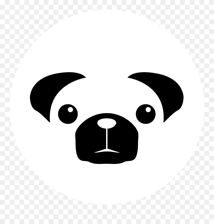 Pug Pugjs Logo Black And White Discord Icon Pug Clipart