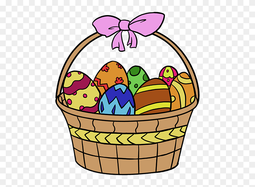 How To Draw Easter Basket Easy Easter Egg Basket Drawing Clipart 5673143 Pinclipart