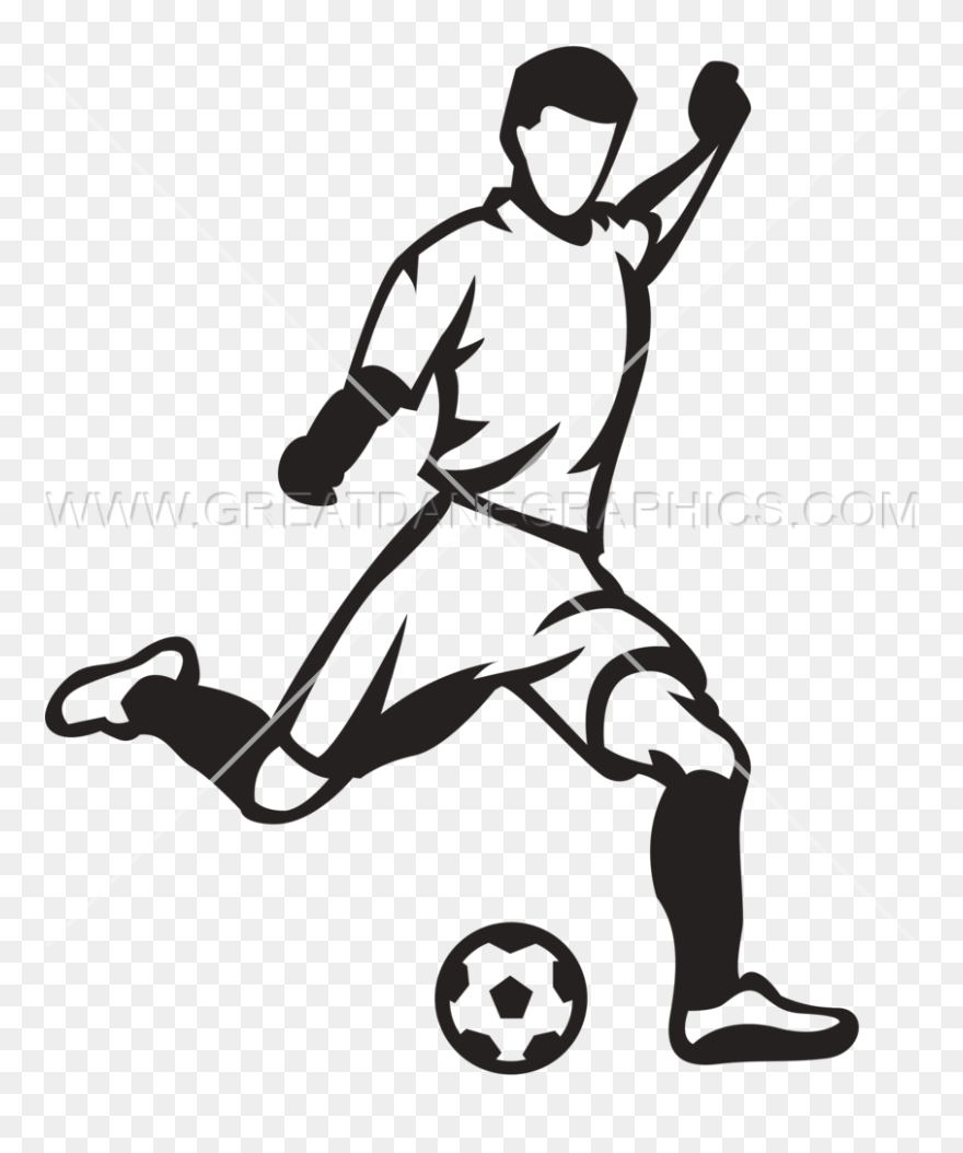 Play Clipart Soccer Kick Soccer Player Kicking Ball Png Download Full Size Clipart 571063 Pinclipart