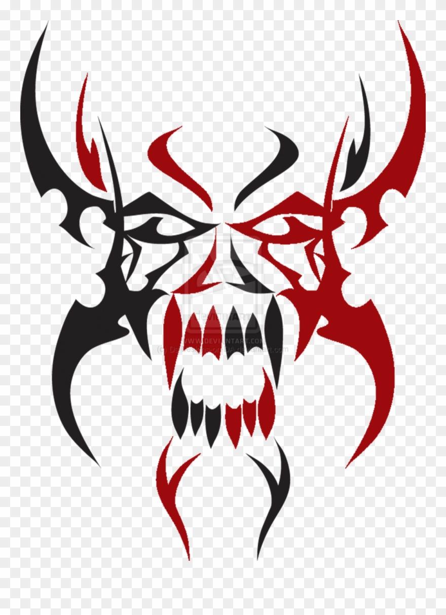 Skull tribal. Tattoos tattoo png clipart