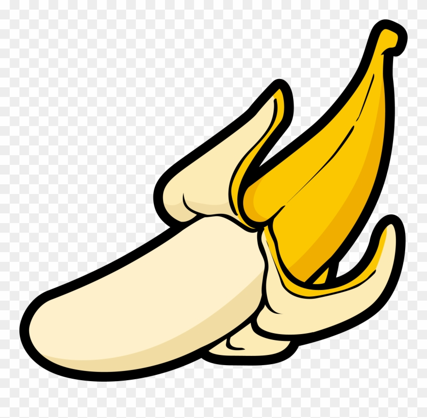Banana vector. Banner black and white