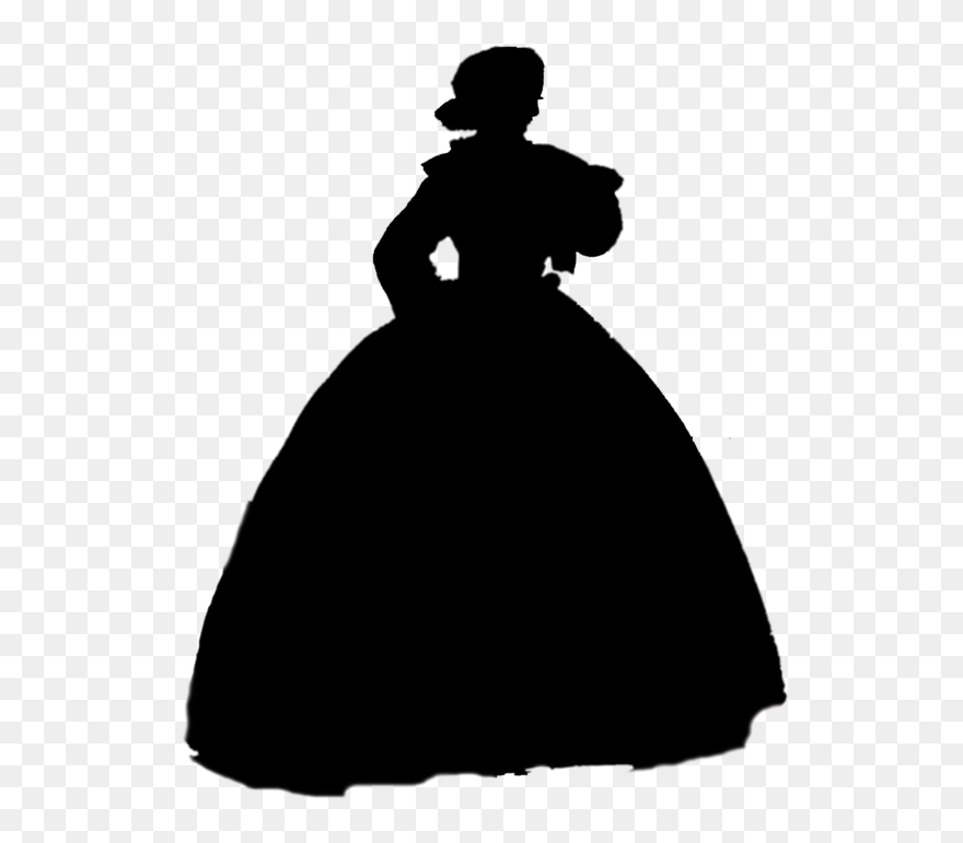 Princess Tiana And The Frog Silhouette Clipart 5722187 Pinclipart