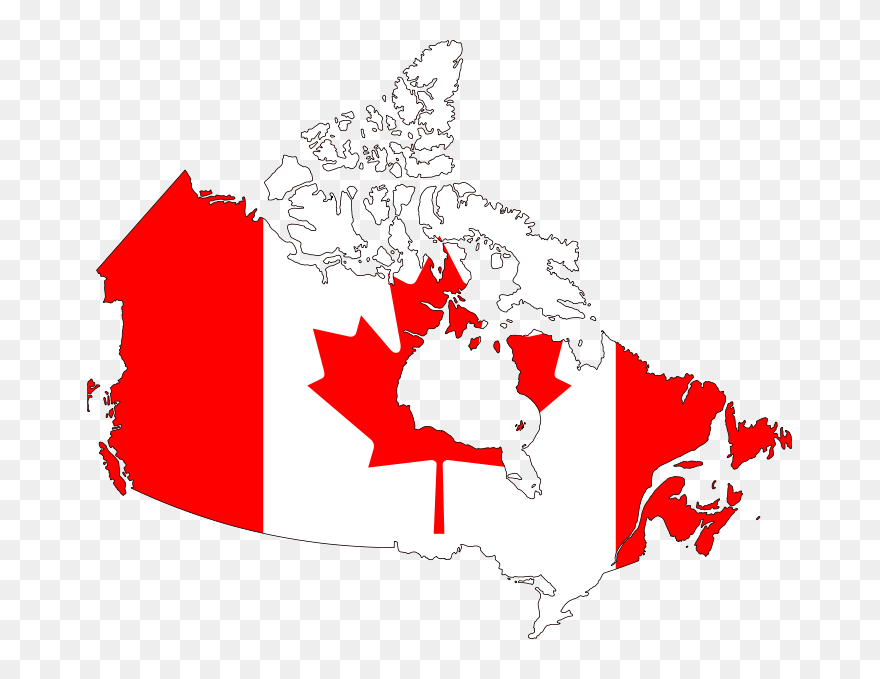 Canada Map Clipart Canada Flag Map Clipart (#5728781)   PinClipart