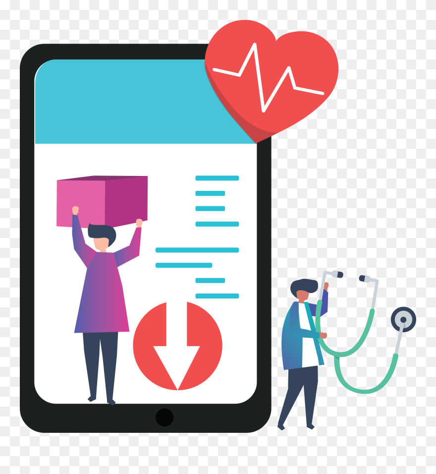 Pdf Banner Digital Health Illustration Png Clipart 5745230 Pinclipart