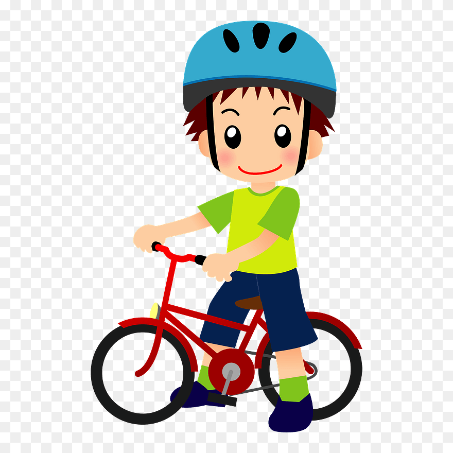 Child Bicycle Clipart ヘルメット イラスト 書き方 自転車 Png Download Pinclipart