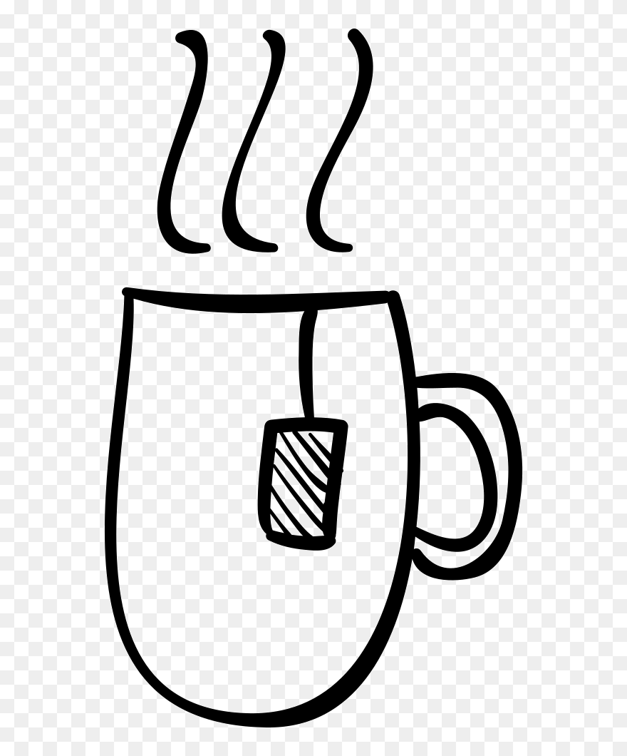 Hot Tea Cup Hand Drawn Outline Cup Of Tea Mug Drawing Clipart 5773614 Pinclipart
