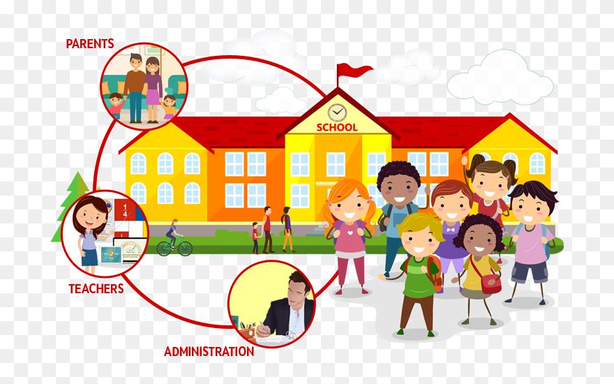 Gambar Gedung Sekolah Kartun Clipart 5788976 Pinclipart