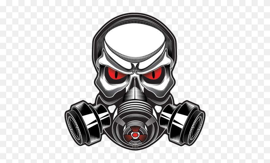 Printed Vinyl Gas Mask Skull Stickers Factory Skull With Gas Mask Clipart 5790823 Pinclipart