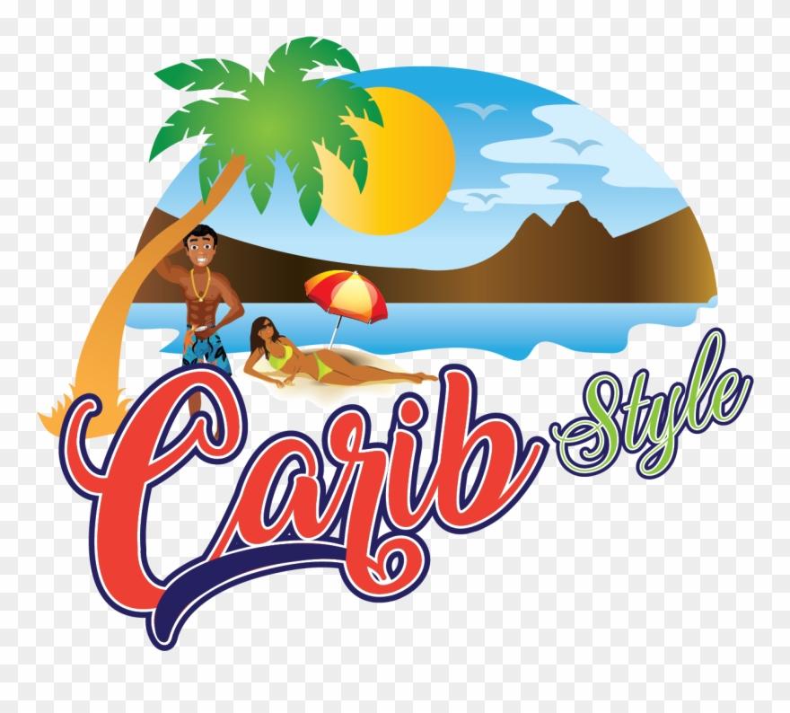 Carib - - Summer - Vacation Beach Towel Clipart