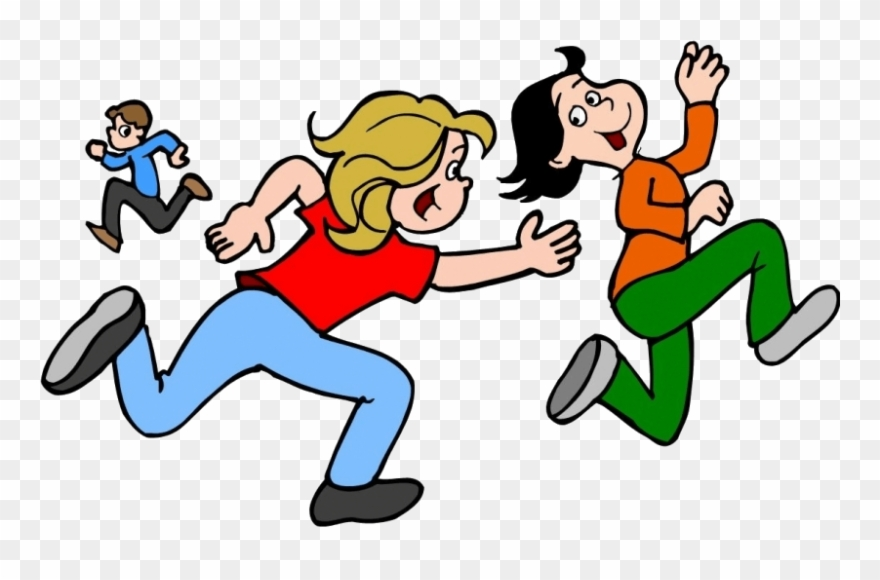 Kids Playing Tag Tag Game Clipart 587358 Pinclipart