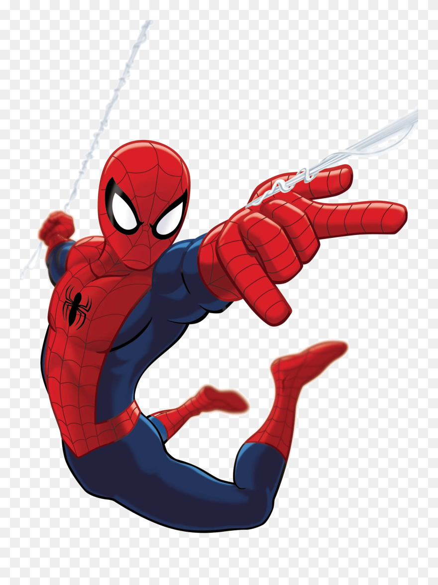 Spiderman upside down. Ultimate spider man clipart