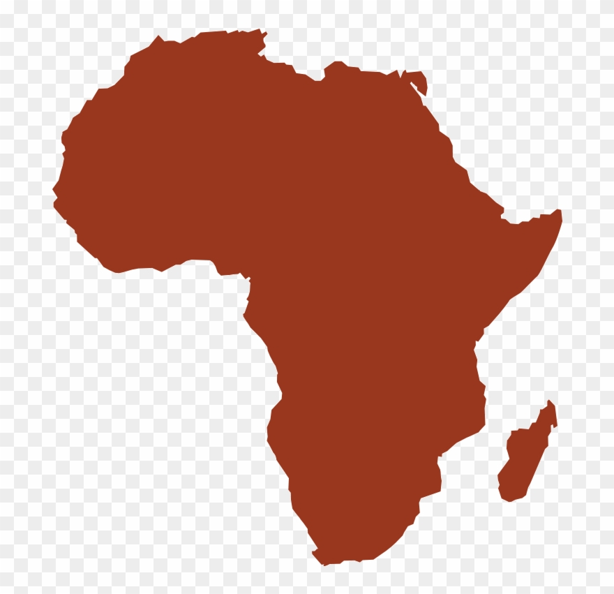 An Illustration Of The Continent Of Africa   Africa Map In Red