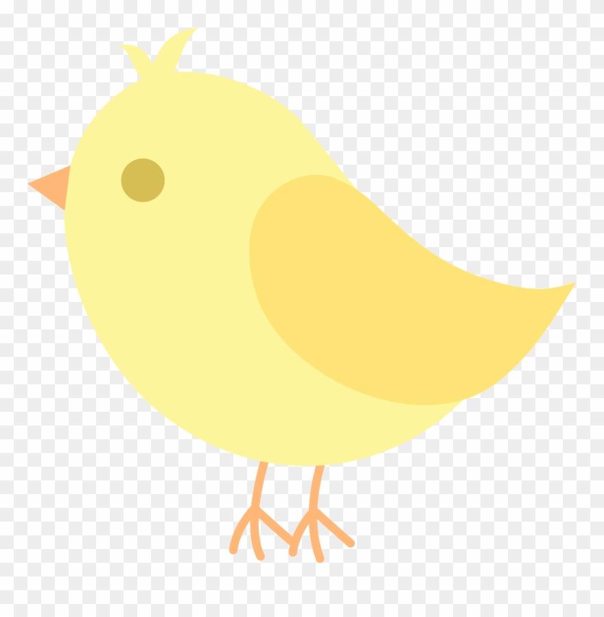 Bird yellow. Cute clip art cartoon