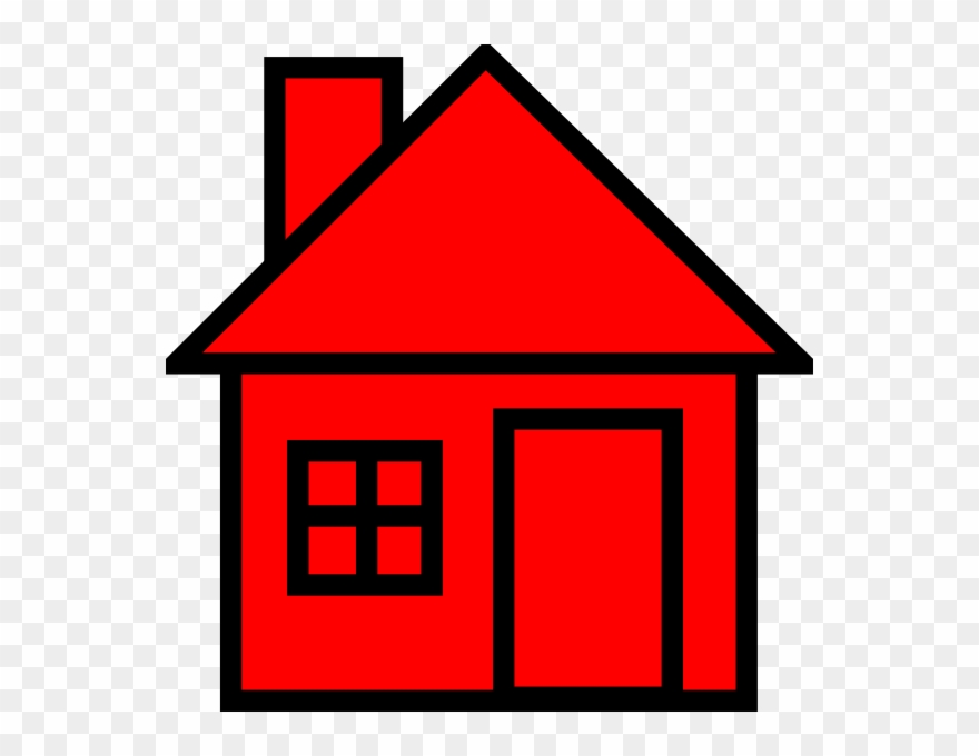 House small. Red clipart png download