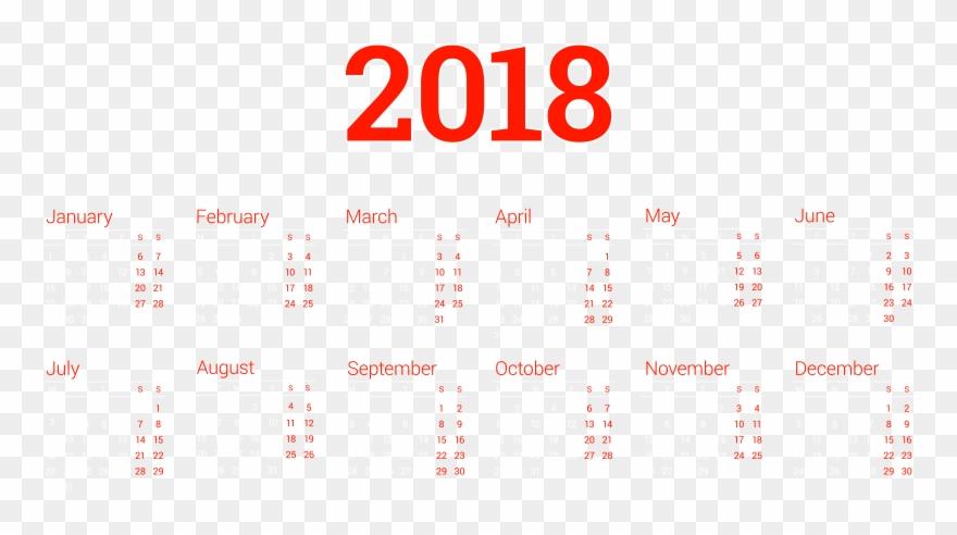 Calendario 2o18.Free Clipart Of Calendario 2018 2 Png Download 63058