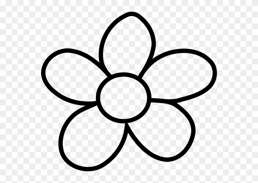 Gallery Of Clip Art Flower Black And White Clipart - Flowers Clipart Black And White Transparent