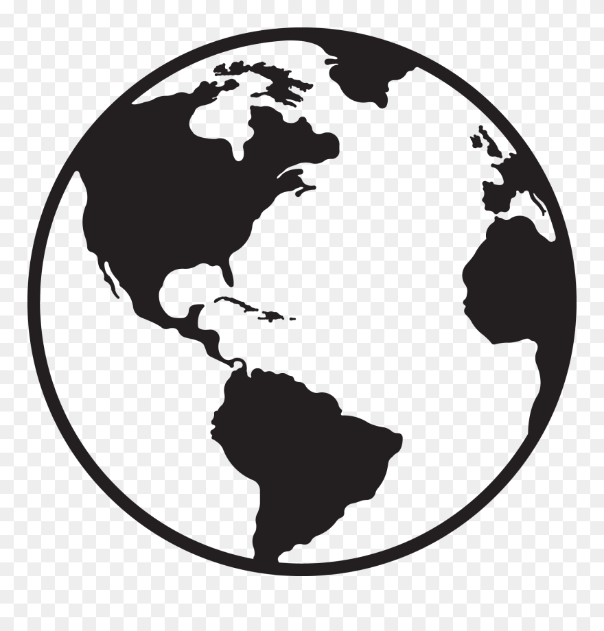 a0e5f494b2 Globe Clipart Globe Clipart Download Jokingart Globe - Black And White Globe  Icon - Png Download