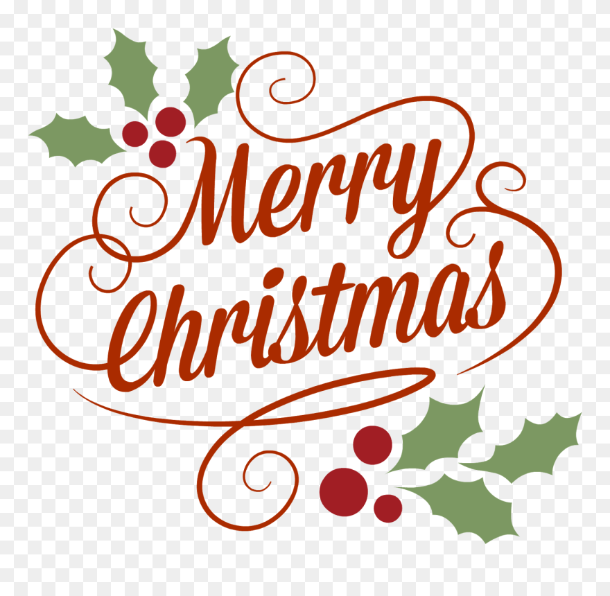 Merry christmas vector. Happy png we hope
